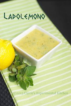 Michael Psilakis' Ladolemono (Copycat)...a citrusy Greek sauce traditionally served with lamb , chicken or fish. Makes a great #marinade.