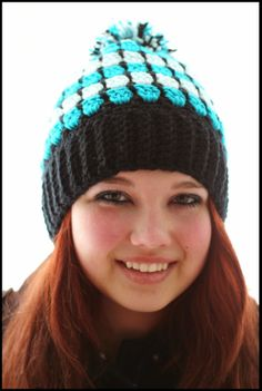 This Housewife Life...: Stained Glass Beanie Hat ~FREE PATTERN~