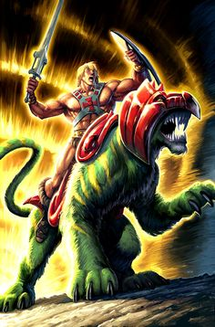 Masters of the Universe He-Man and Battle Cat Art