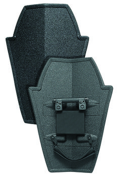 "Level IIIA+ protection. Lightweight (20"" x 30"" standard shield) weighs only 10.29 lbs. 100% Boltless System."