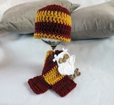 Newborn Infant Hogwarts Harry Potter House Beanie by JulianBean, $30.00