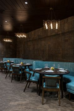 Beautiful restaurant interior design with stone cladding giving it a vintage looks