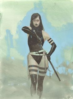 Esad Ribic - Psylocke Painted Art Commission | Superheroes Paintings | Pinterest | Psylocke ...