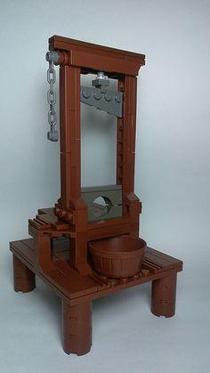 I knew there was something missing in my life. It was a lego guillotine. Lego Halloween, Halloween Town, Halloween Ideas, Pokemon Lego, Lego Moc, Lego Duplo, Lego Design, Lego Avengers, Lego Batman