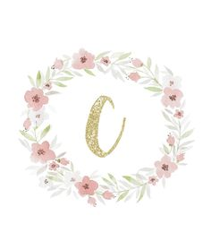 Freebie using watercolor and glitter initial monogram great for printable wall art and iphone, or ipad background.