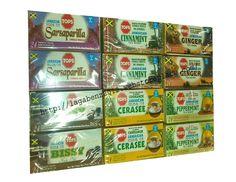 Lot of 12 Boxes Tea Ginger Bissy Cerasee Sarsaparilla Peppermint Cinnamint Tea #Tops