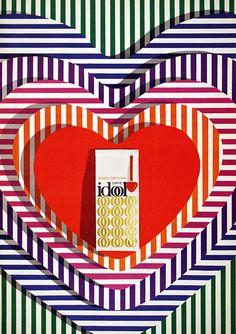 Romano Chicherio, poster for Idool Caffé, 1968. Switzerland. Source