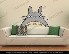 Ispirato Totoro - Totoro testa parete Applique Art Sticker