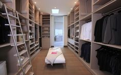 Modern And Large Walk In Closet Design