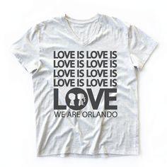 LOVE IS LOVE V-Neck Oversized BoyFriend Fit Tee