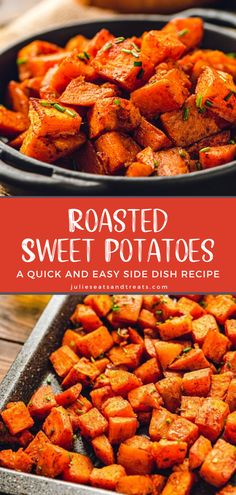 Sweet Potato Oven, Sweet Potato Side Dish, Oven Roasted Sweet Potatoes, Cooking Sweet Potatoes, Potato Side Dishes, Vegetable Side Dishes, Side Dishes Easy, Side Dish Recipes, Recipes With Sweet Potatoes