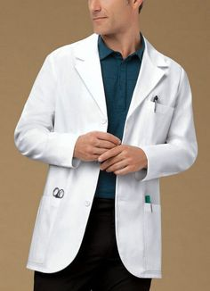 Cherokee 31 Men s Consultation Lab Coat Style 1389 (All Sizes) Doctor White Coat, Doctor Coat, Lab Coats For Men, Cherokee Uniforms, Doctor Scrubs, White Lab Coat, Medical Uniforms, Nursing Uniforms, Apron Designs