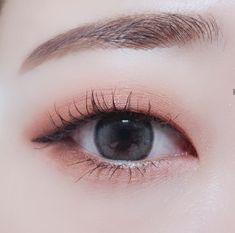 Simple Eye Makeup, Cute Makeup, Perfect Makeup, Pretty Makeup, Makeup Looks, Korean Eye Makeup, Korea Makeup, Asian Makeup, Monolid Makeup