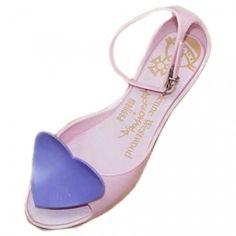 Vivienne Westwood Melissa Heart Shoes Ankle Strap Pink HDX1012-021