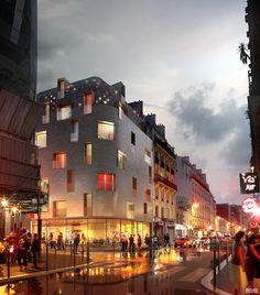 Hotel 114 | Paris 2015| Herault Arnod Architectes | Visualization: ©Slashcube