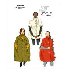 Misses' Cape. Vogue 8776.