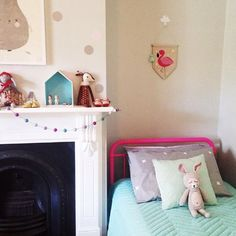 Add a splash of colour to your child's bedroom with our Pink Sonata Bed styled by Myminimoo.