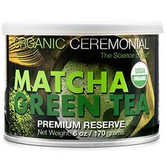 Organic Ceremonial Matcha Green Tea Powder 6 oz Tin >>> To view further for this item, visit the image link.