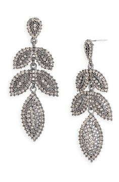 These are beautiful and super sparkly! They come in hematite with black crystals, or silver with clear crystals. Best of all they are only $37.90!! http://cpn.cd/w5BQWF