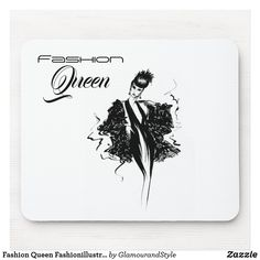 Fashion Queen Fashionillustration Mouse Pad Candy Jars, Organizing Your Home, Business Supplies, Creative Business, Gifts For Dad, Business Cards, Art Pieces, Queen, Make It Yourself