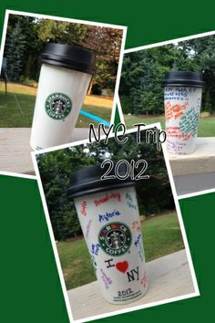 DIY Sharpie Mug Great idea for memorializing travel memories!