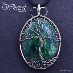 Custom Sterling Silver Tree of Life Pendant - Orgonite - Handmade Wire Wrapped Jewelry
