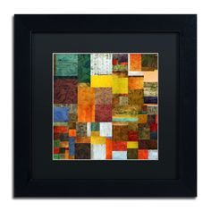 'Brocade Color Collage 1' by Michelle Calkins Framed Graphic Art