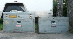 Rusty Metal Machinists Tool Box Locking by TheCreativeHearth