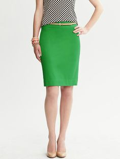 Banana republic green pencil skirt