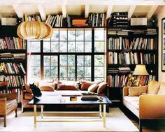 destinationpearlstreet: (via Pinterest) - this looks like a music library, but it's the same concept to me!