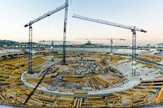 1. Reforma Estadio Maracaná con cuatro grúas torre 21 LC 400 del fabricante español Linden Comansa.   Foto: Sérgio Huoliver www.lindencomansa.com