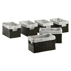 Threshold™ Small Paper Rope Basket - Set of 6 - ... : Target Mobile
