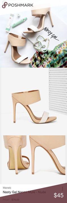 Brand New nasty gal Naomi mule heels Brand New nasty gal Naomi mule heels Nasty Gal Shoes Heels
