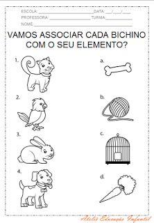 """ATELIÊ CANTINHO DA EDUCAÇÃO INFANTIL: PROJETO """"ANIMAIS"""""""