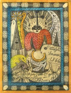 A former farm labourer and handy-man, #AdolfWölfli was schizophrenic and spent much of his life in the Waldau Clinic, a Swiss mental institution outside Bern. In 1921, his psychiatrist, Walter Morgenthaler, wrote a study of his work, introducing him to the art world. Adolf Wölfli became known as the quintessential outsider artist. Read more: http://rawvision.com/sourcebook/adolf-wolfli-1864-1930 #RawVision #OutsiderArt #artbrut