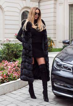 Vesta Blana Snow Lunga Neagra    veste-dama