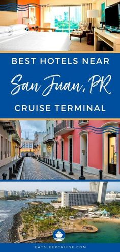 If you are taking a cruise from San Juan, Puerto Rico, find the perfect pre-cruise or post cruise accommodations with our Top Hotels Near the San Juan Cruise Port. #cruise #SanJuan #PuertoRico #hotels #eatsleepcruise Southern Caribbean Cruise, Royal Caribbean, Top Hotels, Best Hotels, San Juan Cruise, San Juan Marriott, Wonderful Places, Beautiful Places, Embassy Suites