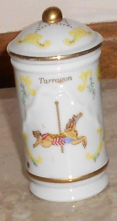 1993 LENOX THE SPICE CAROUSEL COLLECTION TARRAGON HORSE SPICE JAR