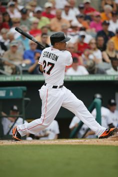 Must be rough to be a baseball with Giancarlo Stanton at bat | #Marlins Spring Training