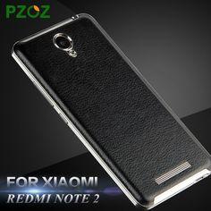 PZOZ Redmi 노트 2 케이스 가죽 배터리 커버 원래 Xiomi Redmi 주 2 럭셔리 교체 쉘 샤오 미 테크 Redmi 주