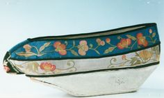 One of a pair of Antique Chinese shoes in the Collection of Anthony J Sargeant.
