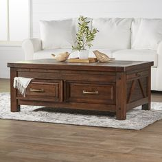 Riverbank Coffee Table - 19'' H x 48'' W x 30'' D