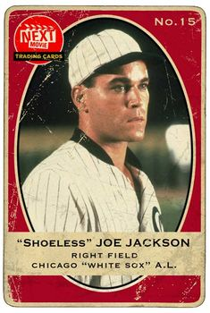 "Ray Liotta in Field of Dreams as ""Shoeless"" Joe Jackson. Next Movie Trading Cards. Baseball Movies, Baseball Art, Baseball Players, Mafia, Ray Liotta, Image Film, Field Of Dreams, Star Wars, Sports Figures"
