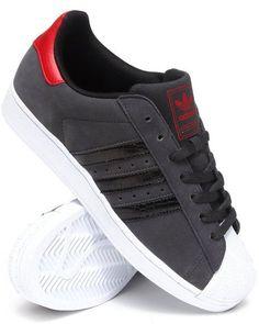 best website 50017 e795e 1718850 - Adidas - Men Charcoal Superstar 2 Sneakers Sneaker Games, Red  Sneakers, Basket