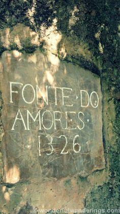Quinta das Lágrimas Coimbra, Portugal - Fonte dos Amores - 1326