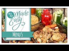 Meal Prep Made Easy | Menu 5 - YouTube