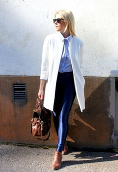 Channeling Olivia Newton-John in Grease meets the constructed look by Lainahöyhenissä/Lily.fi