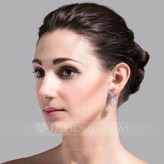 [€ 11.27] Belle Zircon de Dames Boucles d'oreilles (011074423)
