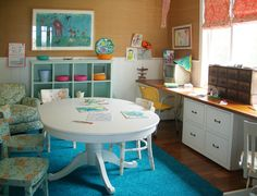 Colorful and Casual Craft Room
