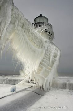 frozen lighthouse, by thomas zakowski